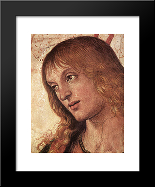 Baptism Of Christ [Detail: 4]: Modern Black Framed Art Print by Pietro Perugino