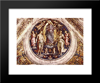 Christ In His Glory: Modern Black Framed Art Print by Pietro Perugino
