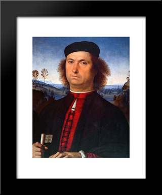 Francesco Delle Opere: Modern Black Framed Art Print by Pietro Perugino