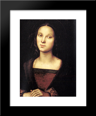 Mary Magdalen: Modern Black Framed Art Print by Pietro Perugino