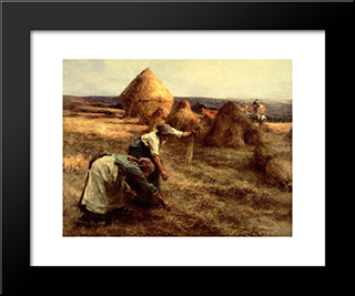The Gleaners: Modern Black Framed Art Print by Leon Augustin L'Hermitte