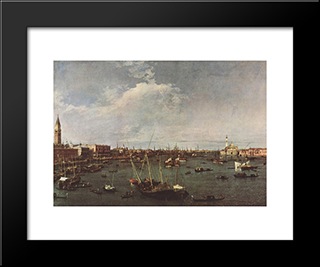 Bacino Di San Marco: Modern Black Framed Art Print by Canaletto