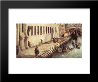 Rio Dei Mendicanti (Detail): Modern Black Framed Art Print by Canaletto
