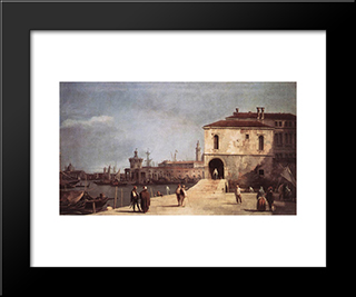 The Fonteghetto Della Farina: Modern Black Framed Art Print by Canaletto