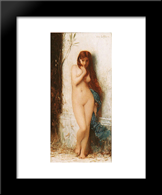 Variation On 'La Cigale': Modern Black Framed Art Print by Jules Joseph Lefebvre