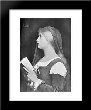Laure: Modern Black Framed Art Print by Jules Joseph Lefebvre