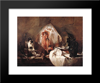 The Ray: Modern Black Framed Art Print by Jean Baptiste Simeon Chardin
