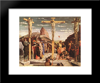 Crucifixion: Modern Black Framed Art Print by Andrea Mantegna