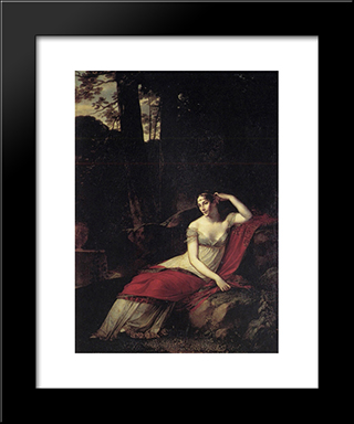 Empress Josephine: Modern Black Framed Art Print by Pierre Paul Prud'hon
