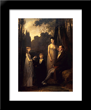 The Schimmelpenninck Family: Modern Black Framed Art Print by Pierre Paul Prud'hon
