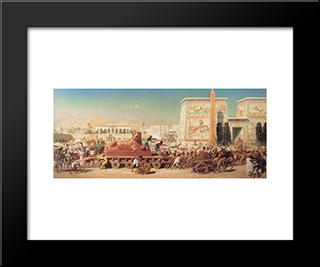 Israel In Egypt: Modern Black Framed Art Print by Edward John Poynter