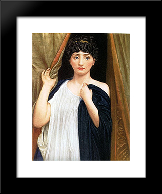 Cressida: Modern Black Framed Art Print by Edward John Poynter