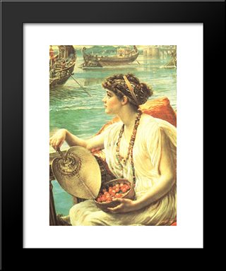 A Roman Boat Race: Modern Black Framed Art Print by Edward John Poynter