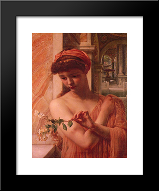 Psyche In The Temple Of Love: Modern Black Framed Art Print by Edward John Poynter