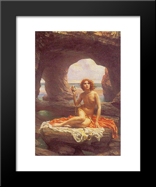 At Low Tide: Modern Black Framed Art Print by Edward John Poynter
