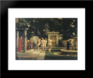 A Visit To Aesclepius: Modern Black Framed Art Print by Edward John Poynter