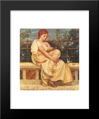 Reading: Modern Black Framed Art Print by Edward John Poynter