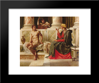 The Fortune Teller: Modern Black Framed Art Print by Edward John Poynter