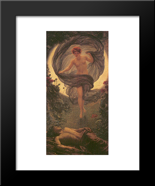The Vision Of Endymion: Modern Black Framed Art Print by Edward John Poynter