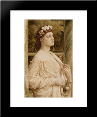 A Vestal Portrait Of Miss Violet Lindsay: Modern Black Framed Art Print by Edward John Poynter