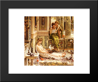 Corner Of The Villa: Modern Black Framed Art Print by Edward John Poynter