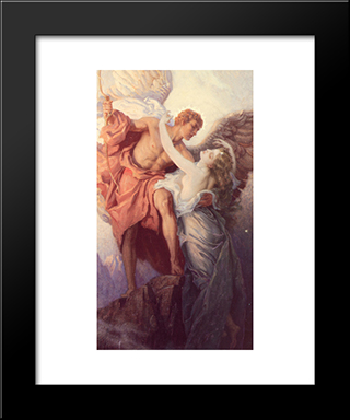 Day And The Dawnstar: Modern Black Framed Art Print by Herbert James Draper
