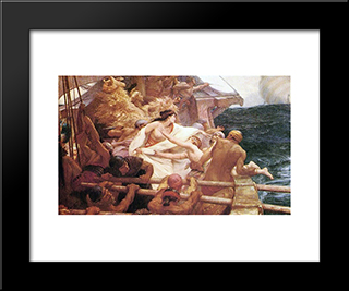 The Golden Fleece: Modern Black Framed Art Print by Herbert James Draper