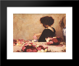 Pot Pourri: Modern Black Framed Art Print by Herbert James Draper