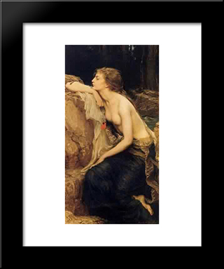 Lamia: Modern Black Framed Art Print by Herbert James Draper
