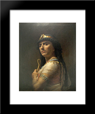 King David: Modern Black Framed Art Print by Frederick Arthur Bridgman