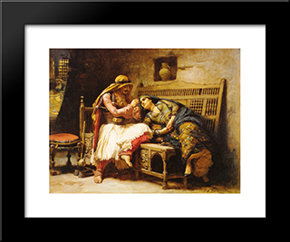 Queen Of The Brigands: Modern Black Framed Art Print by Frederick Arthur Bridgman