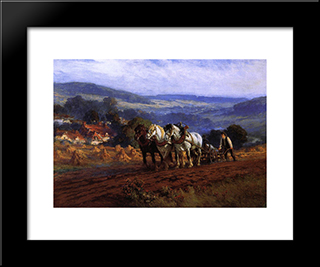 The Laborer: Modern Black Framed Art Print by Frederick Arthur Bridgman