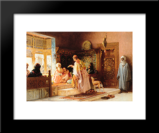 The Messenger: Modern Black Framed Art Print by Frederick Arthur Bridgman