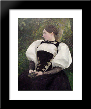 A Woman From Bern, Switzerland: Modern Black Framed Art Print by Pascal Adophe Jean Dagnan Bouveret