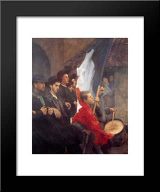 The Conscripts: Modern Black Framed Art Print by Pascal Adophe Jean Dagnan Bouveret
