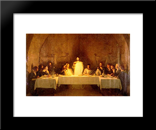 The Last Supper: Modern Black Framed Art Print by Pascal Adophe Jean Dagnan Bouveret