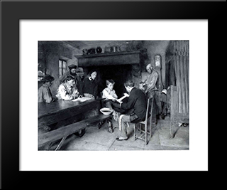 The Accident: Modern Black Framed Art Print by Pascal Adophe Jean Dagnan Bouveret