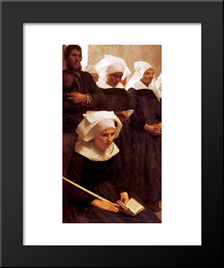 Bretons Praying: Modern Black Framed Art Print by Pascal Adophe Jean Dagnan Bouveret
