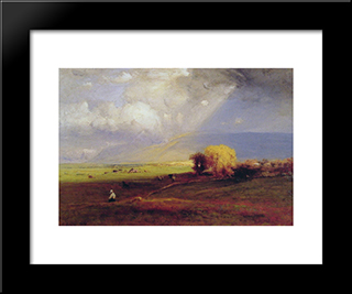 Passing Clouds: Modern Black Framed Art Print by George Inness