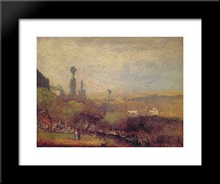 Monte Lucia, Perugia: Modern Black Framed Art Print by George Inness
