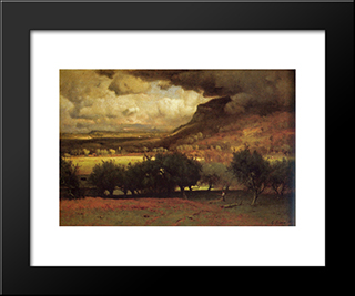 The Coming Storm: Modern Black Framed Art Print by George Inness