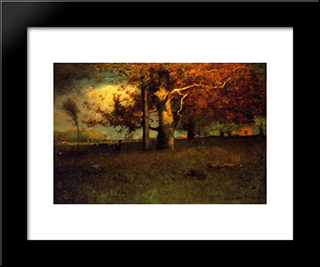 Early Autumn, Montclair: Modern Black Framed Art Print by George Inness