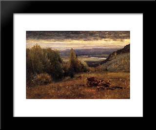 From The Sawangunk Mountains: Modern Black Framed Art Print by George Inness