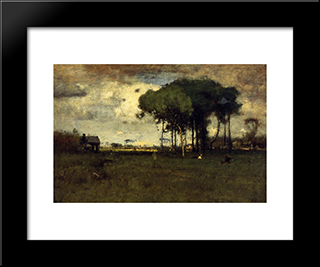 Georgia Pines ' Afternoon: Modern Black Framed Art Print by George Inness