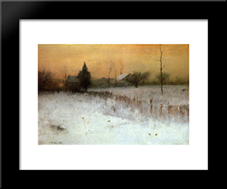 Home At Montclair: Modern Black Framed Art Print by George Inness