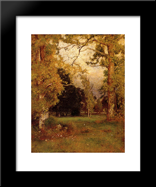 Late Afternoon: Modern Black Framed Art Print by George Inness