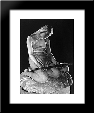 Maddalena Penitente: Modern Black Framed Art Print by Antonio Canova