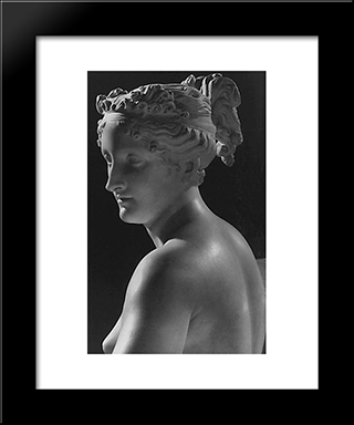 Venere Vincitrice [Detail]: Modern Black Framed Art Print by Antonio Canova
