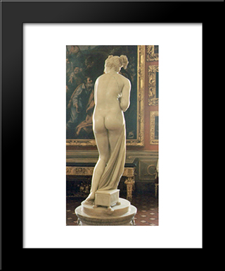 Venus Italica [Detail: Behind]: Modern Black Framed Art Print by Antonio Canova