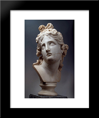 The Genius Of Death: Modern Black Framed Art Print by Antonio Canova